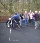 Setting up the telescopes at Leaplish (c) Sally Hutt