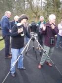 Joyce and Joanna setting up telescopes