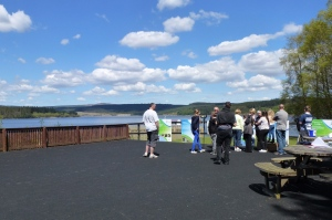 Visitors enjoy the sun on Day 1 of Osprey Watch 2013 (c) Joanna Dailey