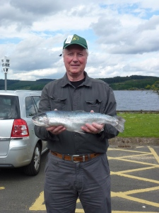 A competitor with a 3lb 9oz trout, a bit big for an osprey! (c) Joanna Dailey