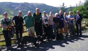 Kielder Osprey Team with their Lake District Guides (c) Lake District Osprey Project Volunteer