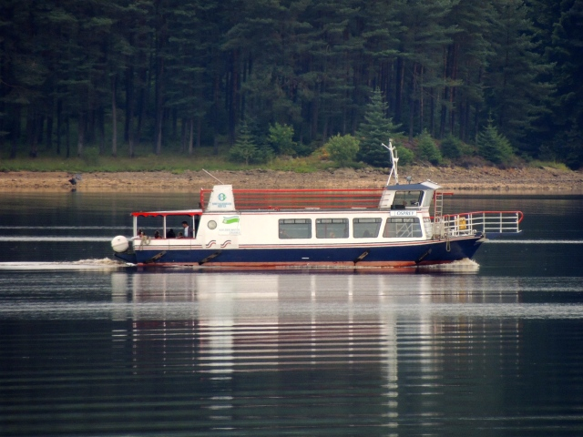 the 'Osprey' ferry on the trip where fishing ospreys were seen (c) Joanna Dailey