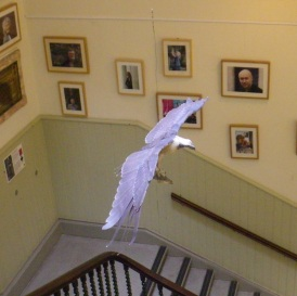 Paper osprey in Wigtown County Building (c) Sally Hutt