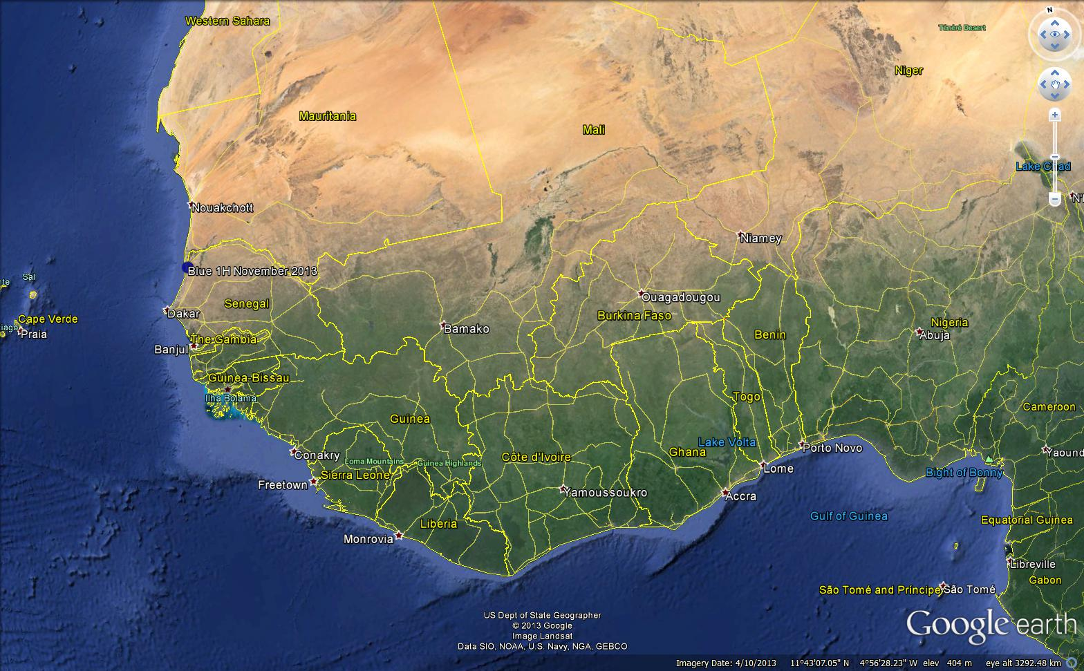 west africa map google