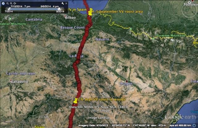 VV's travel on 5 September