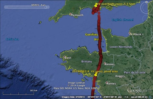 VV's travel on 3 September