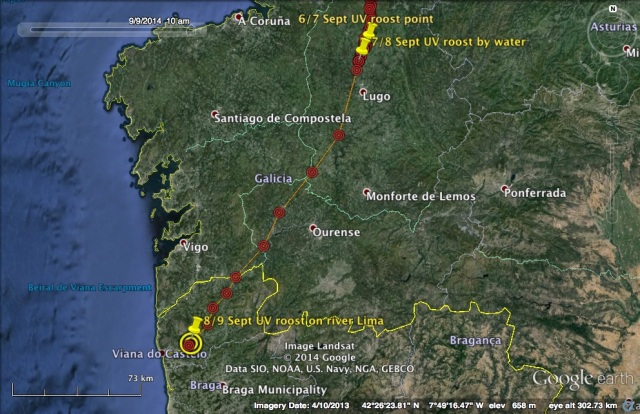 UV's travel on 7 and 8 September
