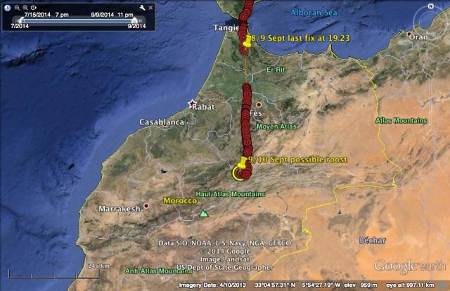 VV's travel on 9 September