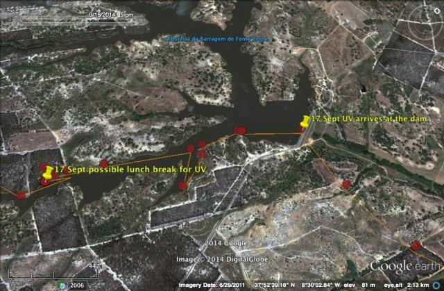A possible lunch break at the Barragem da Fonte Serne