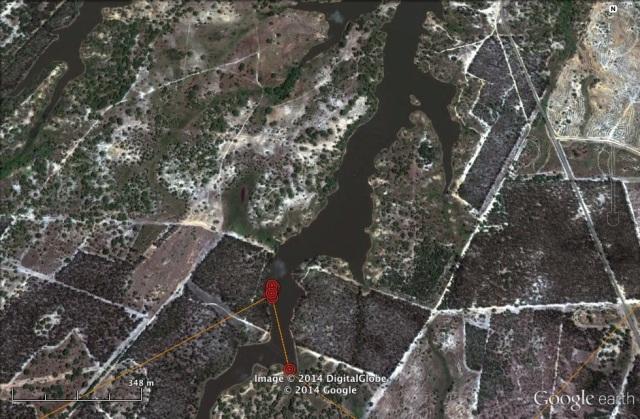 UV stops at the Barragem da Fonte Cerne