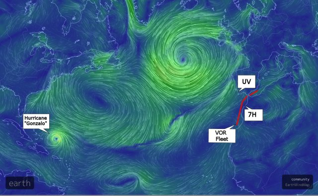 Surface wind map from Earthschool, additions courtesy Paul Wildlifewriter