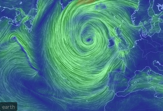 Strong winds in SW Portugal Image from Earthschool