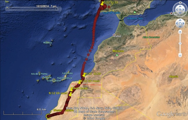 UV from Portugal to Western Sahara