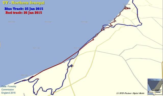 UV explores towards Dakar. And back again!