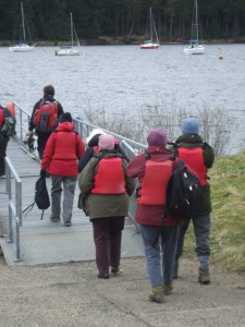 Some of the volunteers heading for the boat (c) Kelly Hollings