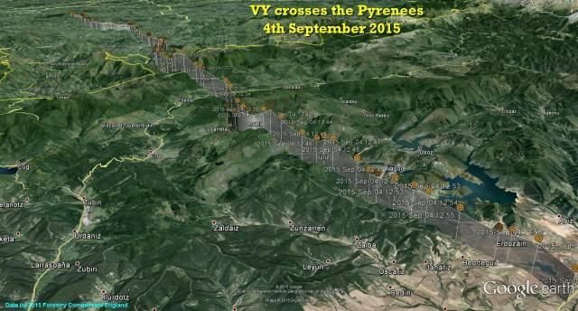 VY crosses the Pyrenées