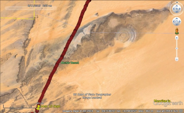 VY has a good view of the Richat Structure