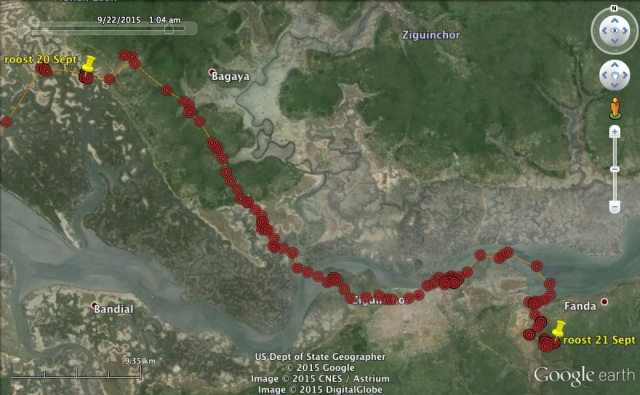 21 Sept: VY continues upriver