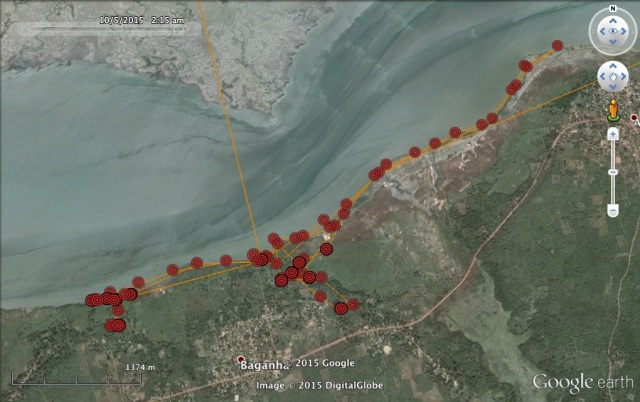 4 Oct: VY explores near the narrow part of the Casamance River