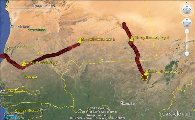 22-26 April route