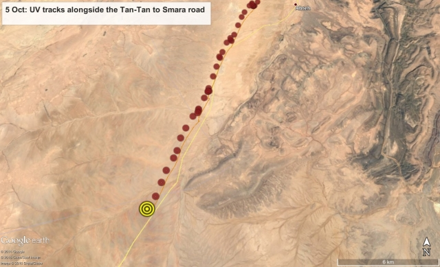5 Oct: UV flies parallel to the Tan-Tan to Smara road